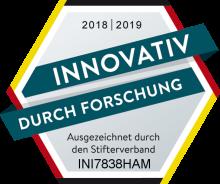 """Forschung_und_Entwicklung_2018_print Forschungsarbeit der initions AG erhält Gütesiegel """"Innovativ durch Forschung"""""""