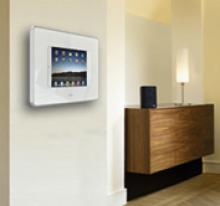 wandhalterung f r ipad bietet einen anschluss zu externen audio verst rkern telematik markt. Black Bedroom Furniture Sets. Home Design Ideas